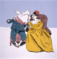prince pig gets married to the third sister by paula rego