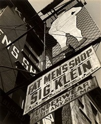 fat men's shop, side view, new york by godfrey frankel