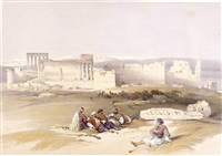 baalbec, general view by david roberts