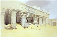 portico of the temple of edfou by david roberts