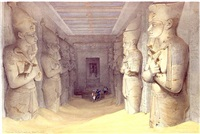 interior of the great temple of aboo simbel by david roberts