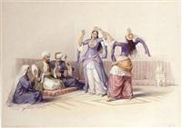 the ghawazee, or dancing girls, cairo by david roberts