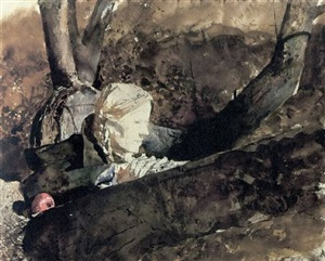13. in the orchard, 1973, copyright: pacific sun by andrew wyeth
