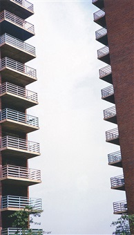 benefit sale: two housing projects, new york city by dan graham