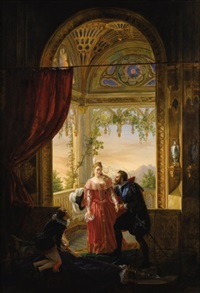 henri iv and his mistress by louis nicolas lemasle