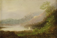 sailing on lake george by asher brown durand