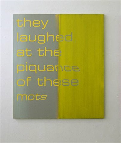 they laughed about the piquence of the mots by tim ayres