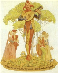 with a hey and a ho, and a hey nonino, sweet lovers love the spring - shakespeare by walter beach humphrey