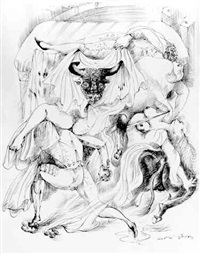 tauromachie by andré masson
