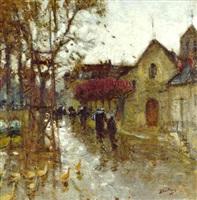 rue de village by pierre eugène montézin