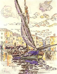 le port de saint-tropez by paul signac