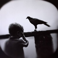 boy and hawk by keith carter