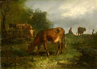 the cattle tender, fontainebleau by constant troyon