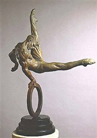 the gymnast -- 1/4 life-size by richard macdonald