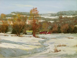 farm in winter (sold) by carolyn walton