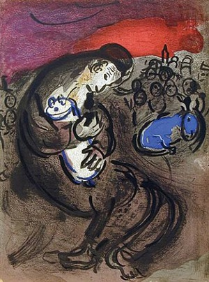 jeremiah's lamentations by marc chagall