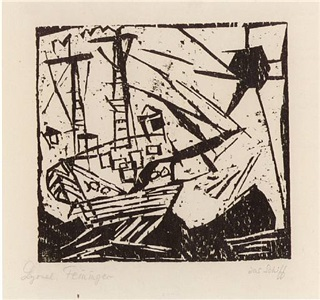 schiff mit sonne by lyonel feininger
