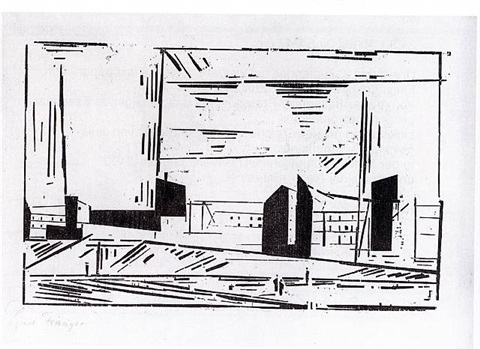vorstadt / outskirts of berlin by lyonel feininger