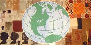 memory & illusion (globe) by donald baechler