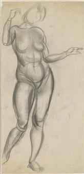 femme nu by boris dmitrievich grigoriev