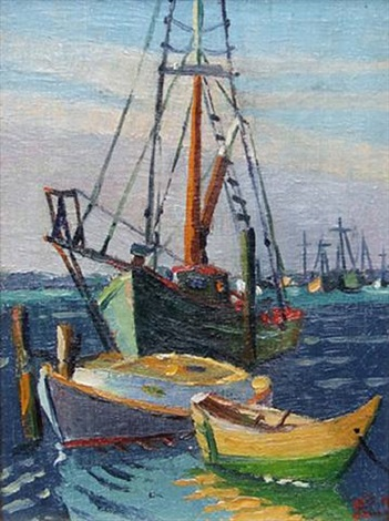 boats, menemsha by lois mailou jones