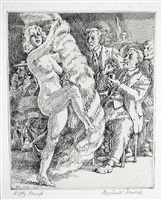 fan dance at jimmy kelly's by reginald marsh