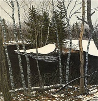 thaw at pond pass by neil welliver