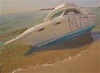 plum beach boat iii by andrew lenaghan