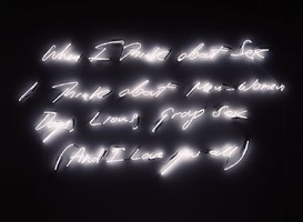 when i think about sex i think about... by tracey emin