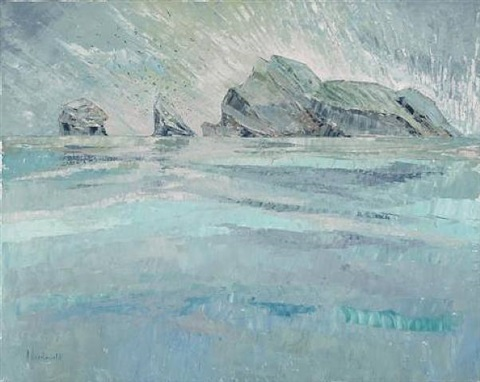 (03) stac armin, boreray, ganets in flight, staclee by frances macdonald