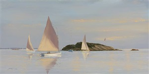 evening sail-tuxis island (sold) by yves parent
