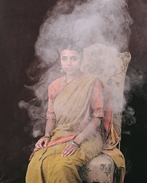 portrait in smoke and steam by paul hodgson