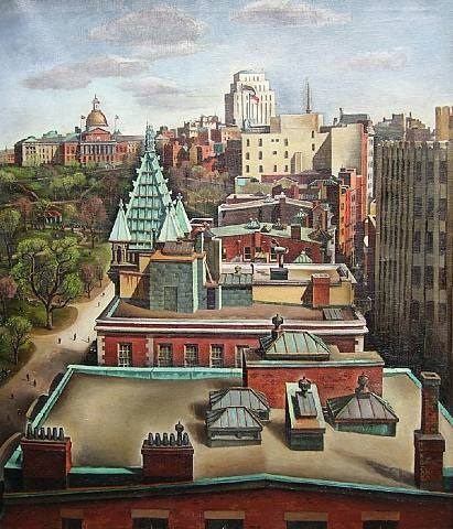 rooftops, boston by yvonne twining