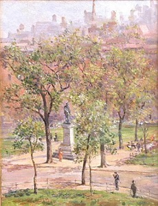 washington square park by colin campbell cooper
