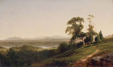 view of the hudson from barrytown, new york by david johnson
