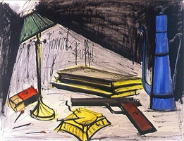 nature morte au pot à café et cendrier by bernard buffet