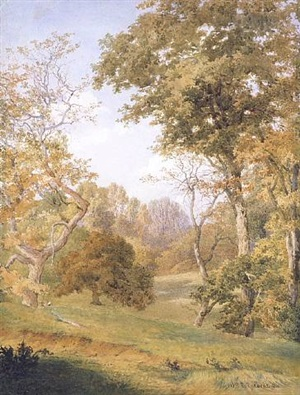 forest clearing by william trost richards