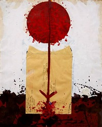 untitled red line by josep grau garriga