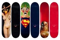 skateboard decks (set of 3) by george condo