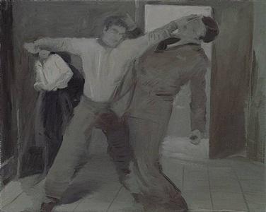 man fighting by tamara k. e.