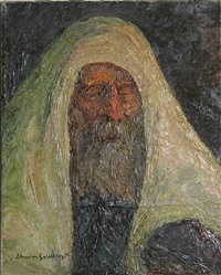 rabbi in prayer by chaïm goldberg