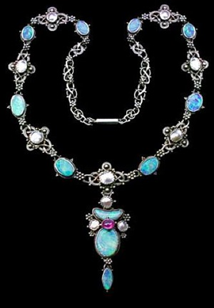 superb arts & crafts necklace by artificers' guild