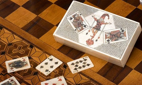 box with a complete set of 52 playing cards