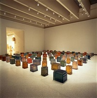 untitled (one hundred spaces) by rachel whiteread