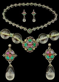arts & crafts necklace & earrings by sibyl dunlop