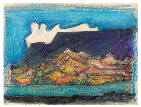 blue hills, taos, new mexico by marsden hartley