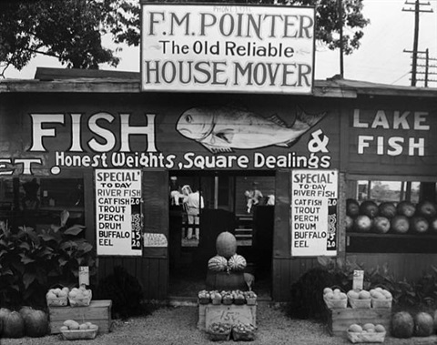 fish market near birmingham, ala. by walker evans