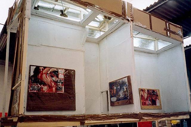 art center 8 (blow down) by thomas hirschhorn