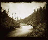1br brink of upper falls yellowstone river by david michael kennedy