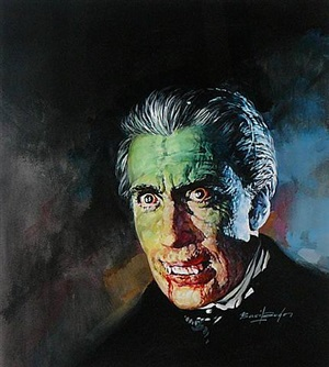 "christopher lee as dracula from ""horror of dracula"" by basil gogos"